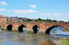 Old Dee Bridge, Chester. Royalty Free Stock Images
