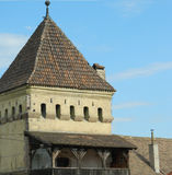 Old defense tower. In Medias , Romania Royalty Free Stock Image
