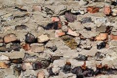 Old defense wall red bricks Royalty Free Stock Image