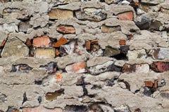 Old defense wall red bricks Stock Photos