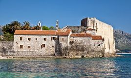 Old defensive fortress on the sea shore Royalty Free Stock Photography