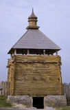 Old defensive tower. Image of an old defensive wooden tower stock photography