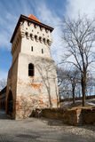 Old defensive tower in Sibiu, Romania Royalty Free Stock Photography