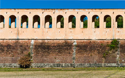 Old defensive wall in Pisa, Italy Stock Photos