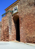 Old defensive wall in Silves Stock Image
