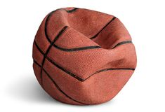 Old deflated basketball royalty free stock images