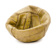 Old deflated soccer ball Royalty Free Stock Photography