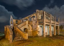 An old delapidated and abandoned dwelling in Barbados Royalty Free Stock Image