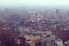 Old Delhi habitation. Aerial view of Old Delhi habitation stock images
