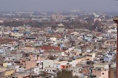 Old Delhi habitation. Aerial view of Old Delhi habitation stock image