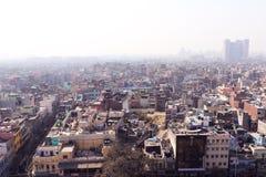Old Delhi habitation. Aerial view of Old Delhi habitation stock photo
