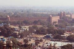 Old Delhi habitation. Aerial view of Old Delhi habitation royalty free stock photo