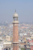 Old Delhi and minaret of Jama Masjid Royalty Free Stock Photo