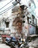 Old Delhi street. Old Delhi corner royalty free stock photography