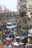 Old Delhi street scene Stock Photo