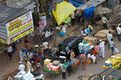 Old Delhi street scene Royalty Free Stock Image