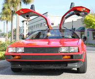 Old Delorean car. The Old Delorean car at the show Stock Images