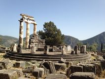 Old Delphi temple Royalty Free Stock Photography