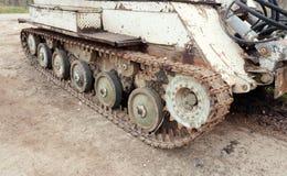 Old demining machine tracks. Army old demining machine tracks Stock Photography