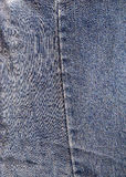 Old denim. Close detail of old denim jeans Royalty Free Stock Photo