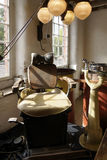 Old dentist chair in Quarry Mill, England Royalty Free Stock Images