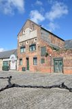 Old derelict brick warehouse Stock Images