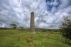 Old Derelict Graite Tin Mine on top of Dartmoor in England Royalty Free Stock Photos