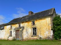 Old derelict house. An old derelict Irish house Royalty Free Stock Image