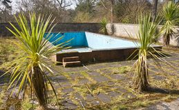 Old derelict swimming pool Royalty Free Stock Photography