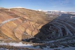 Old derelict uranium quarry Stock Image