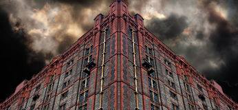 Old derelict victorian warehouse Royalty Free Stock Images