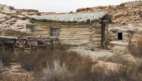 Old Desert Cabin royalty free stock images