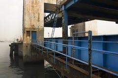 Old desert car ferry dock Stock Image