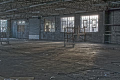 Old Deserted Abandoned Factory Royalty Free Stock Photos