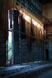 Old deserted abandoned factory structure Royalty Free Stock Photos