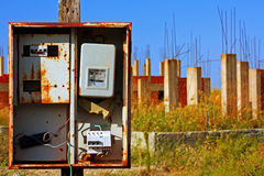 Old deserted building site. 1 Royalty Free Stock Photography