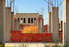 Old deserted building site Royalty Free Stock Photography