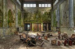 Old deserted hall in Germany Stock Photo
