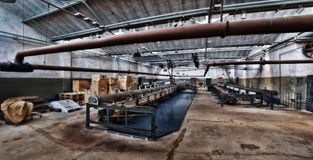Old Deserted Textile Factory in Euskirchen Germany royalty free stock photography