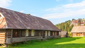 Old deserted wooden farm house. Royalty Free Stock Photography
