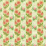 Old design flower paper wallpaper Royalty Free Stock Image
