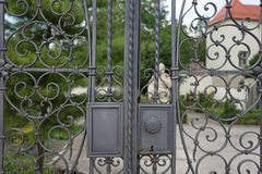 Old design iron gate Royalty Free Stock Photography