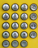 Old design of phone number pad Stock Images