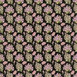 Old design seamless flower paper wallpaper Stock Photography