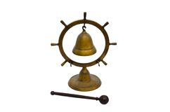 Old desk Bell. Isolated on white background Royalty Free Stock Image