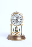 Old desk clock. Isolated on white background Royalty Free Stock Photos