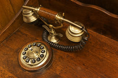 The old desk phone Royalty Free Stock Photos