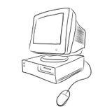 Old desktop computer Stock Image