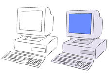 Old Desktop Computer Stock Photo