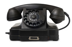 Old desktop telephone Stock Photo